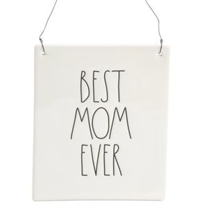 """💝{$FIRM} Rae Dunn """"Best Mom Ever"""" Wall Plaque💝"""